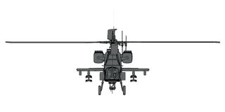 3D rendering of futuristic attack helicopter Stock Photos