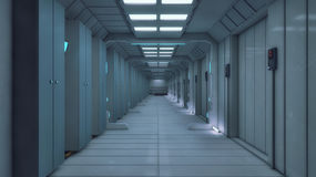 3d rendering. Futuristic background architecture Royalty Free Stock Photo