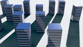 3d rendering futuristic city. Minimalism style Stock Photos