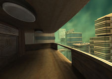 3D Rendering Futuristic City Royalty Free Stock Photography