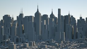 Futuristic city and spaceships. 3d rendering. Futuristic city and spaceships royalty free stock images