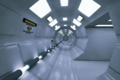 3D rendering. Futuristic empty interior Royalty Free Stock Photography