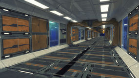 3D rendering. Futuristic empty interior Royalty Free Stock Image