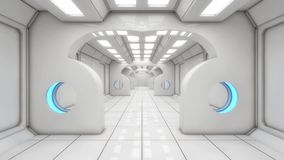 Futuristic interior design background Royalty Free Stock Image