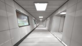 Futuristic interior design background Stock Image