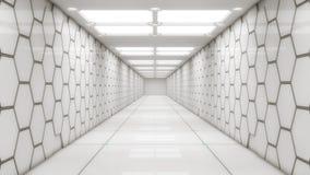 Futuristic interior design background Stock Photography