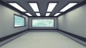 Futuristic interior design background Royalty Free Stock Images