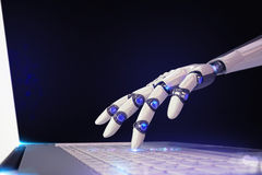 3D Rendering futuristic robot and technology royalty free illustration