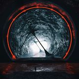 3D Rendering Of Futuristic Underground Tunnel Stock Image