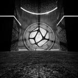 3D rendering Futurystyczny Świątynny monochrom Zdjęcia Royalty Free