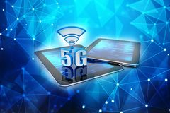 3d rendering, 5G Network, 5G Connection Concept. 5G Network, 5G wifi internet Connection Concept. 3d rendering Royalty Free Stock Photography