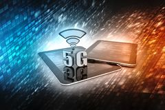 3d rendering, 5G Network, 5G Connection Concept. 3d rendering, 5G Network, 5G internet concept background. 3d render Stock Images