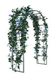 3D Rendering Garden Arbor on White. 3D rendering of a garden arbor with flowers isolated on white background Royalty Free Stock Image