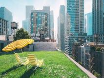 Garden in a big city. living concept. 3d rendering Royalty Free Stock Photos