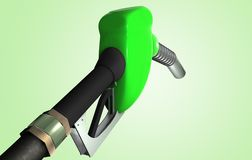 Green Gas Pump. 3D rendering of a Gas Pump Stock Photography