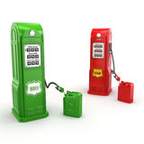 3D rendering gas station. 3D rendering of biofuel filling station in retro style Royalty Free Stock Images