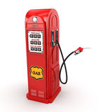 3D rendering gas station. In retro style Royalty Free Stock Images