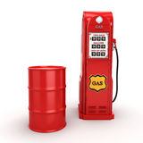 3D rendering gas station Stock Images
