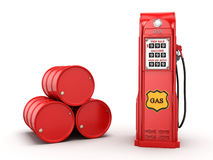 3D rendering gas station Royalty Free Stock Photography