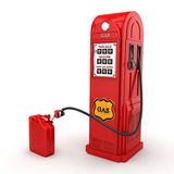 3D rendering gas station. In retro style with canister Royalty Free Stock Images