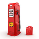 3D rendering gas station. In retro style with canister Royalty Free Stock Photo