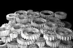 3d rendering Gears Background. 3d rendering Gears on black Background Stock Photo