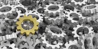 3d rendering gears background Royalty Free Stock Photos