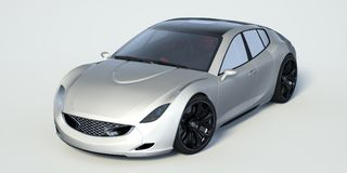 3D rendering - generic concept car Stock Photo