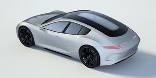3D rendering - generic concept car. 3D rendering of a brand-less generic concept car in studio environment Stock Photos
