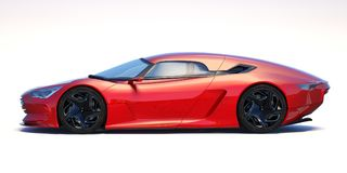3D rendering - generic concept car Stock Photography
