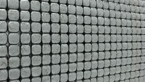 3d rendering of geometic, seamless, simple pattern of cube shape Stock Images