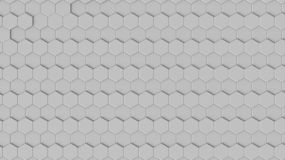3D rendering of geometric hexagonal abstract background stock photo
