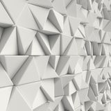 3d White abstract triangles backdrop. 3d rendering geometric polygons, as tile wall. Interior room Royalty Free Stock Images