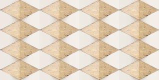 3D rendering geometryczni rhombus kształty, Materialny brązu marmur dla twój dekoracyjnej płytki lub projekta wewnętrznego projek royalty ilustracja