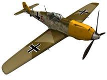 3d rendering of a German BF109E. 3d rendering of a German Messerschmitt BF109E Stock Photography