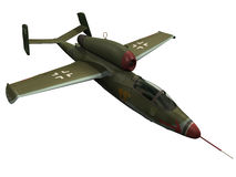 3d Rendering of a German HE162 Stock Photo