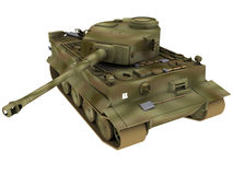 3d Rendering of a German Tiger Tank Royalty Free Stock Photos