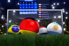 3D rendering of Germany football team. In the year 2014 in a football stadium stock illustration