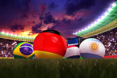 3D rendering of Germany football team. In the year 2014 in a football stadium royalty free illustration