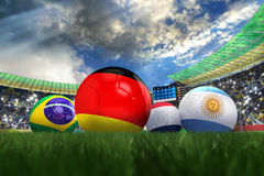3D rendering of Germany football team. In the year 2014 in a football stadium Stock Photo
