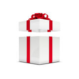 3d rendering of gift box with open lid isolated over white. Background Stock Photos