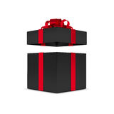 3d rendering of gift box with open lid isolated over white. Background Royalty Free Stock Photography