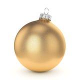 3D rendering gold Christmas ball stock illustration