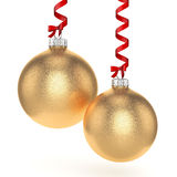 3D rendering gold Christmas ball Stock Image