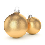 3D rendering gold Christmas ball Royalty Free Stock Photography