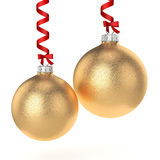 3D rendering gold Christmas ball Stock Photo