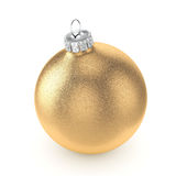 3D rendering gold Christmas ball Stock Photography