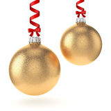 3D rendering gold Christmas ball Royalty Free Stock Photo
