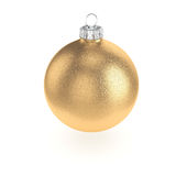 3D rendering gold Christmas ball Stock Images