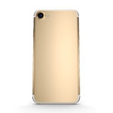 3D rendering gold smart phone with black screen Stock Photography